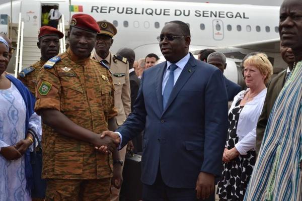 Macky Sall a passé la nuit à Ouaga