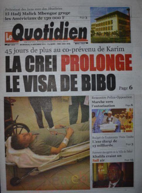 Les Principaux Titres De La Presse du vendredi 14 Novembre 2014