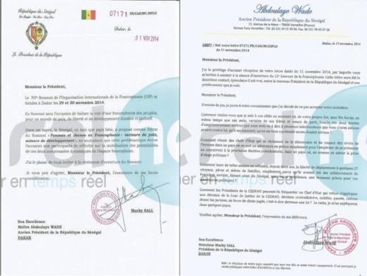 Exclusif- Sommet de la Francophonie: Maître Abdoulaye Wade décline l'invitation du Président Macky Sall (DOCUMENTS)