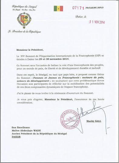 L'invitation du président Macky Sall à Maître Abdoulaye Wade
