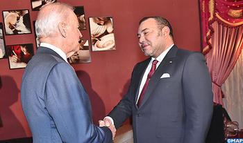 Entretien entre  le Roi du Maroc et  le Vice-Président américain à Fès.