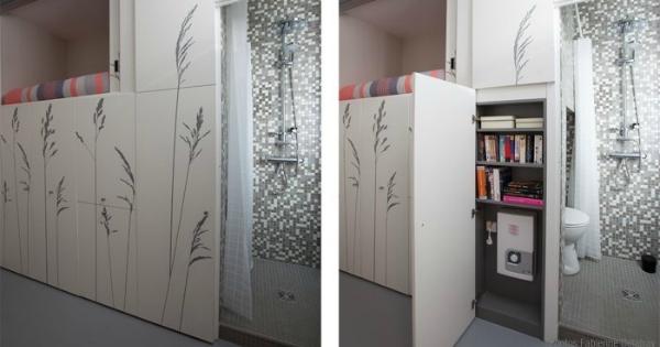 On a trouvé comment vivre (normalement) dans un 8 m² ! Ça ne vous fait pas rêver ? Attendez de voir ce qu'ils ont fait de cette chambre de bonne...
