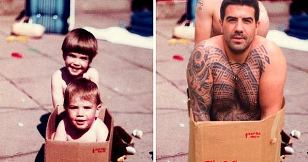 Deux frères recréent leurs photos d'enfance les plus mémorables pour l'anniversaire de mariage de leurs parents ! Le résultat est vraiment parfait.... Il y a 1 heure