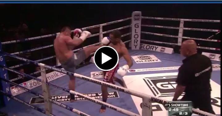 Impressionnante fracture du nez lors d'un match de kickboxing