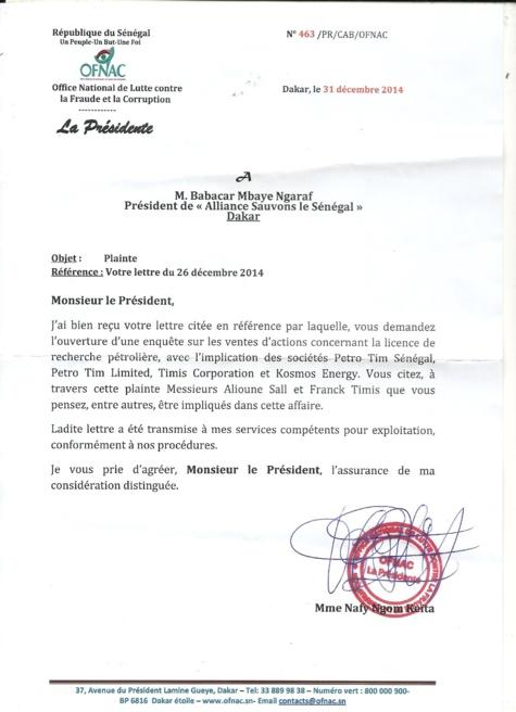 La plainte contre Aliou Sall va avoir une suite… (Doc)