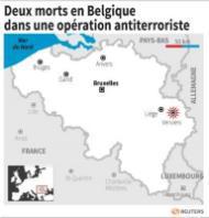 Trois morts dans une opération antiterroriste en Belgique