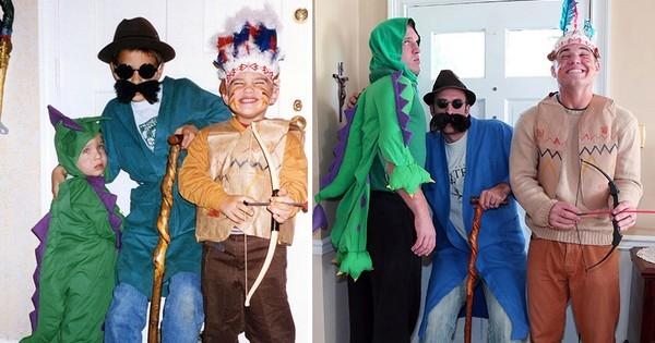Trois frères recréent leurs photos d'enfance à l'identique pour les offrir à leur mère !