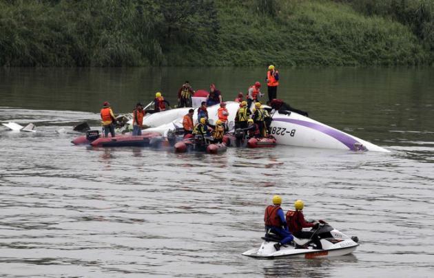 Un avion de ligne s'écrase au décollage à Taipeh