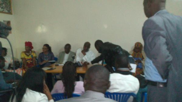 L'APD en formation et conférence de Presse : Thierno Lo montre la voie…