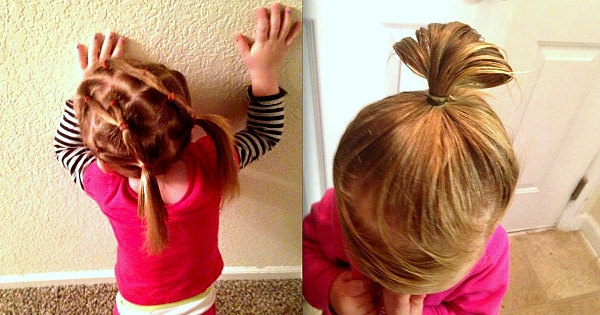Ce papa récemment divorcé a pris des cours pour apprendre à coiffer sa fillette de 3 ans ! Et vu le résultat, c'est la petite qui doit être heureuse...