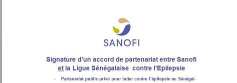 Signature d'un accord de partenariat entre Sanofi  et la Ligue Sénégalaise  contre l'Epilepsie