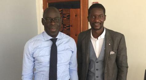 Alioune Ndiaye (DG Sonatel) et Moussa Traore (PassDocteur) - Copyright : Moussa Traore