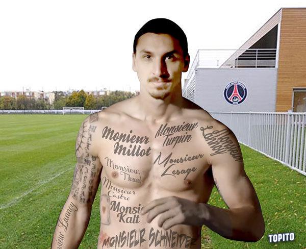 Top 5 des prochains tatouages polémiques de Zlatan Ibrahimovic