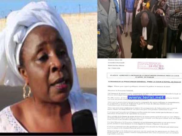 """Marie Aw, coordonatrice du mouvement """"Taxawu Karim Wade"""", porte plainte contre Me El Hadj Diouf pour attentat à la pudeur, menaces de mort et injures"""