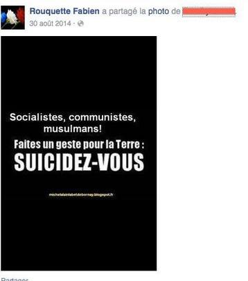 Un candidat FN appelle au suicide des musulmans sur Facebook