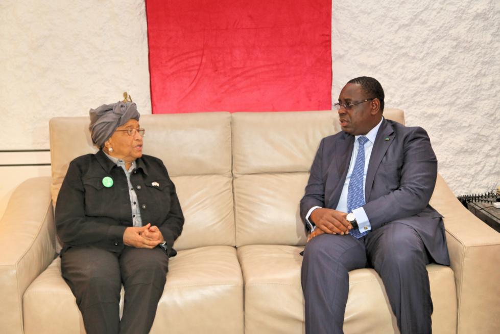 Escale technique: Ellen Johnson Sirleaf était hier à Dakar