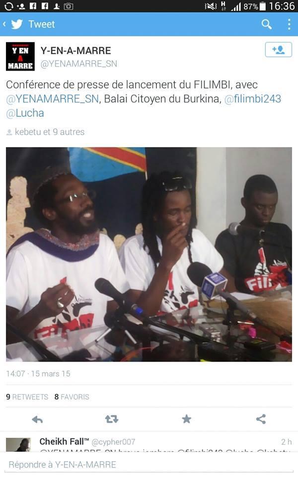 Malal Talla, Aliou Sané et Fadel Barro arrêtés à Kinshasa (Leral)