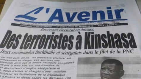 Un journal congolais assimile Y en a marre à un commando terroriste armé pour déstabiliser le pays