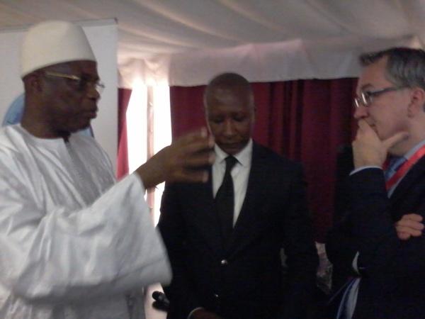 Le Ministre en charge du PSE Abdoul Aziz Tall et Me Madicke Diop PDG BEM School