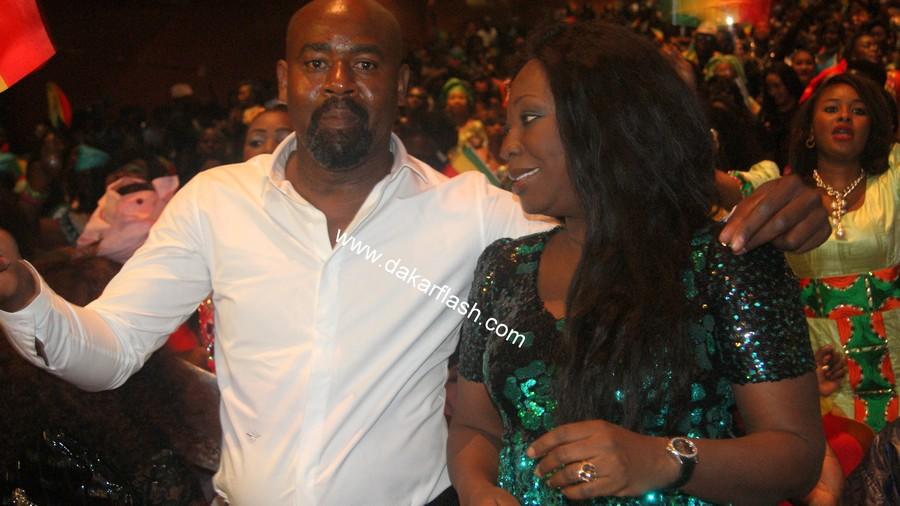 Grand Bégué: Fatou Kiné Ndour, la sœur de Youssou Ndour, en compagnie de son mari au Grand Théâtre.