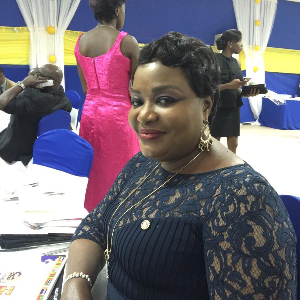 La belle Bineta Khouma à Ouagadougou lors de la soirée du Rotary CLUB