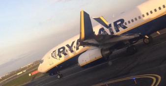 Deux avions Ryanair se percutent sur la piste de l'aéroport de Dublin