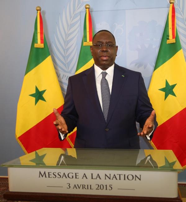 Message à la Nation du Président de la République Macky Sall à l'occasion de la fête de l'indépendance
