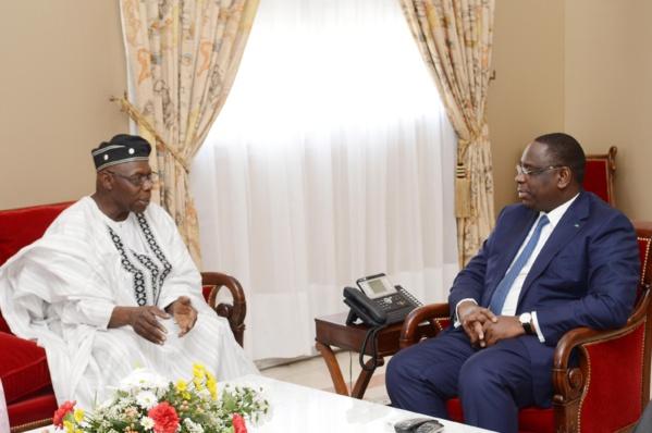 L'ancien président nigérian Obasanjo reçu en audience par le Président Macky Sall