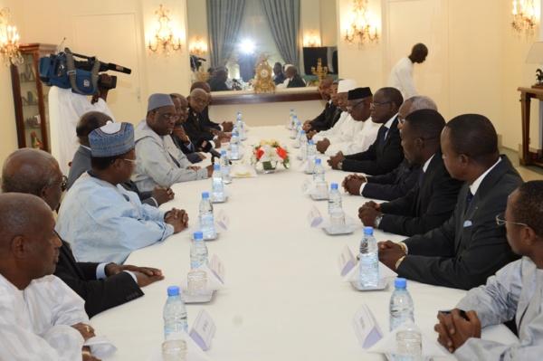 Audience: les Présidents des Assemblées des pays francophones reçus par Macky Sall