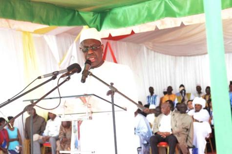 Dicours du Président Macky Sall au lancement des travaux du tronçon routier Dinguiraye-Nioro-Keur Ayib,