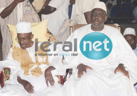 Le Khalife Général de Médina Gounass, Thierno Amadou Tidiane Bâ et Macky Sall