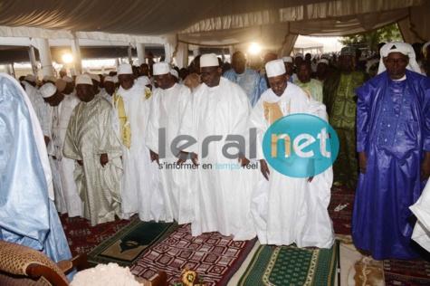 Macky Sall à la prière de Takussane