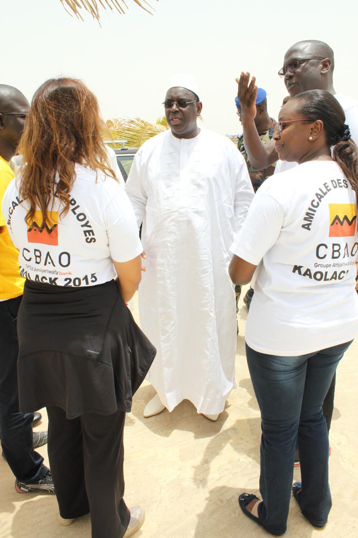 Le Président de la République honore l'amicale des employés de CBAO Groupe Attijariwafa Bank