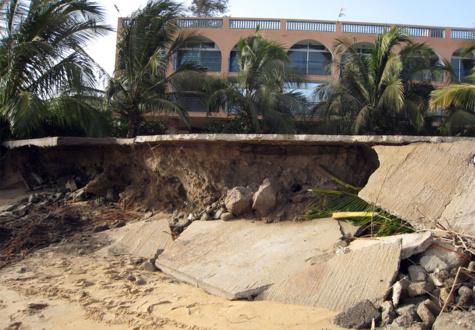 Menace de disparition de villes à cause de l'érosion côtière : Saly, Saint-Louis, Dakar et les îles du Saloum, les points névralgiques