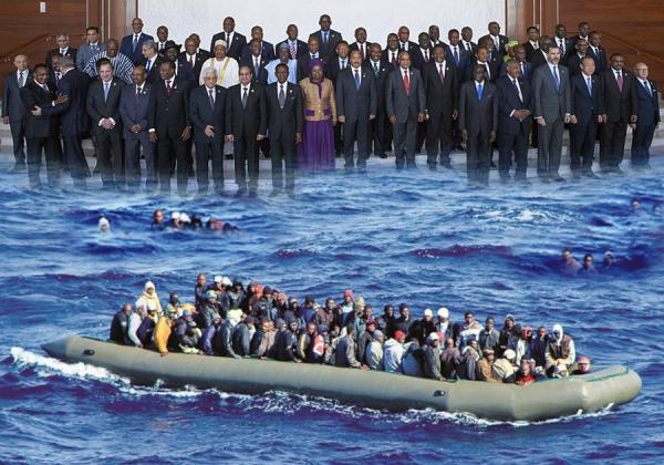 Plus d'un millier de morts en Méditerranée en une semaine : Naufrage des dirigeants africains