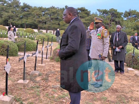 Çanakkale (Turquie) - Commémoration du 100ème anniversaire de la bataille des Dardanelles : Macky Sall se recueille sur les tombes de tirailleurs sénégalais