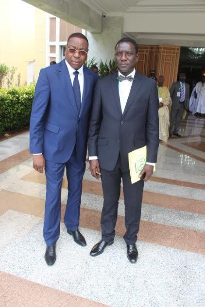 Mankeur Ndiaye, Ministre des Affaires etrangères et des Sénégalais de l'Extérieur et Cheikh Oumar Seck, S.E.M l'Ambassadeur et Directeur du Bureau du Comiac