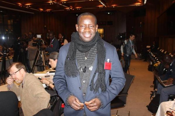Ibra Pouye, au siège de la Banque mondiale, lors du Groupe consultatif de Paris