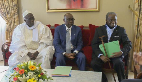 Reçus en audience au Palais, d'anciens présidents de l'Assemblée nationale s'engagent pour la réussite du Pse