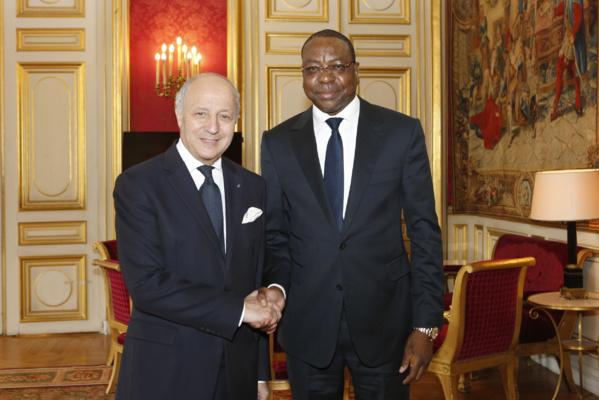 Diplomatie : Mankeur N'diaye reçu par Laurent Fabius au Quai d'Orsay