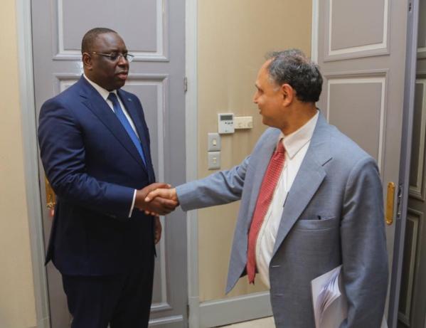 Ali Mansoor, chef de mission FMI/Afrique, reçu par le Président Macky Sall