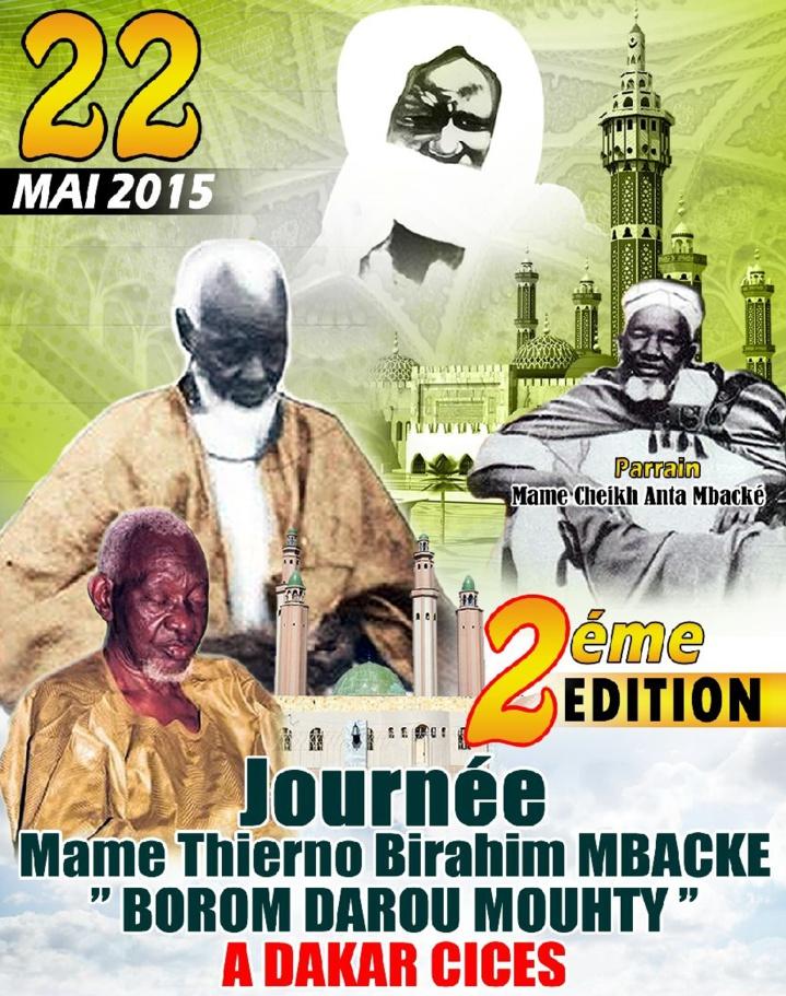 2ème Edition Journée Mame Thierno Borom  Darou le 22 mai 2015 au CICES ( Publireportage )