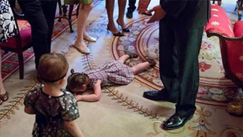Et si votre enfant faisait une crise à la maison blanche?