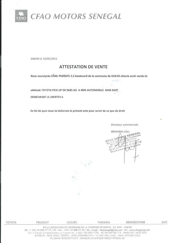 Les prévenus sont tombés après l'arrivée d'un nouveau directeur administratif et financier, en mai 2011. Dès sa nomination, Philippe Coquelin a invité Ibrahima Sall à un inventaire physique pour faire le point sur le nombre de véhicules. Le directeur du service de location lui a alors fixé fin mai comme délai. Mais, Coquelin a attendu jusqu'au 2 d'août de la même année. Puis, à la place d'un inventaire, Sall a présenté une lettre de démission au directeur général, tout en lui annonçant la disparition de 13 véhicules.