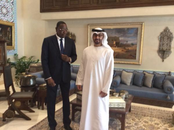 En visite d'amitié aux Emirats Arabes Unis:  Mankeur Ndiaye reçu par le Prince d'Abou Dhabi