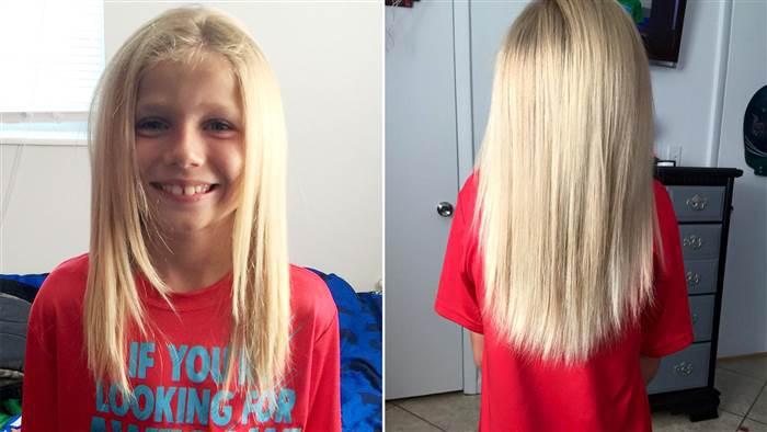 Ce petit garçon se laisse pousser les cheveux avec une idée bien précise en tête