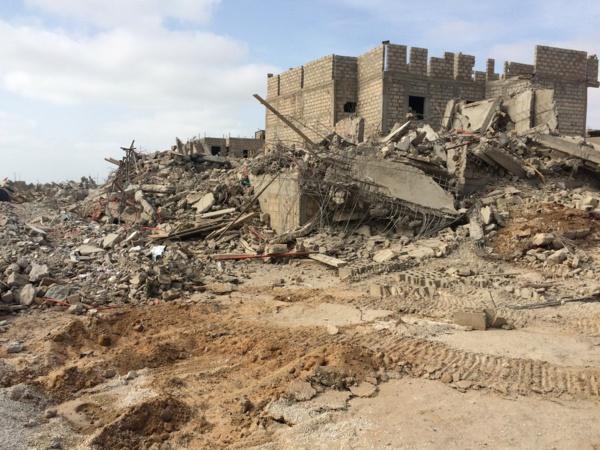 Les premières images de la démolition des maisons construites à 200 m de l'aéroport LSS ( Vidéo)
