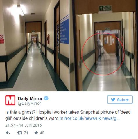 Fake ou pas: un fantôme se promène dans un hôpital de Leeds