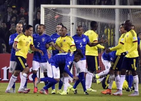 La Colombie se paye le Brésil, Neymar voit rouge
