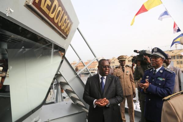 """Marine nationale : Le nouveau patrouilleur baptisé """"Kédougou"""" par Macky Sall"""